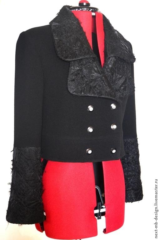 Верхняя одежда ручной работы. Жакет из шерстяной пальтовой ткани отлично подходит для нестабильной весенней погоды и весьма практичен, а также выполняет функцию стильной куртки.