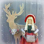 Куклы и игрушки ручной работы. Ярмарка Мастеров - ручная работа Герда и олень. Handmade.