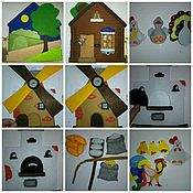 """Куклы и игрушки ручной работы. Ярмарка Мастеров - ручная работа Пальчиковый театр из фетра """"Пшеничный колосок"""". Handmade."""
