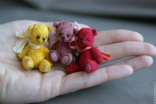 Мишки Тедди ручной работы. Ярмарка Мастеров - ручная работа. Купить Мини мишки. Handmade. Коричневый, мишка тедди