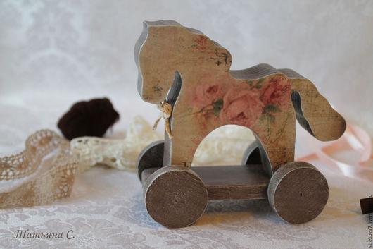 Игрушки животные, ручной работы. Ярмарка Мастеров - ручная работа. Купить Лошадка Кэйтлин. Handmade. Коричневый, лошадка, деревянная заготовка