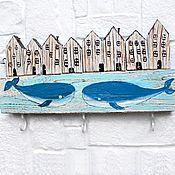 Для дома и интерьера handmade. Livemaster - original item Housekeeper in the sea style Whales. Handmade.