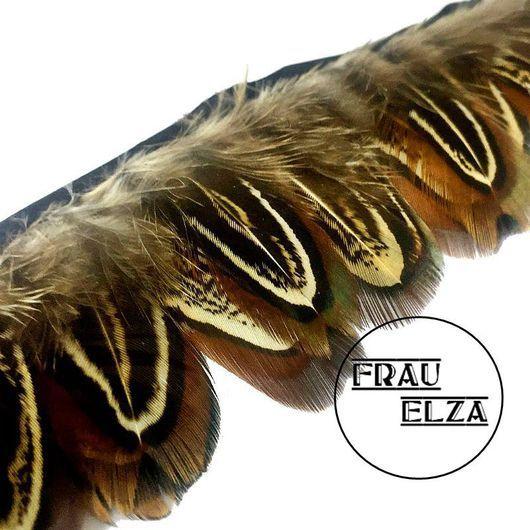 Другие виды рукоделия ручной работы. Ярмарка Мастеров - ручная работа. Купить Перья фазана на ленте натуральные. Handmade.