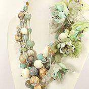 Украшения handmade. Livemaster - original item Breeze Flying Islands. Necklace, pendant, removable floral decor.. Handmade.