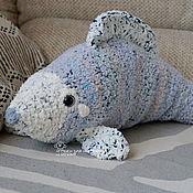 Для дома и интерьера handmade. Livemaster - original item Fish-pillow interior light gray. Handmade.