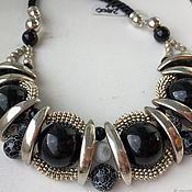 Украшения handmade. Livemaster - original item Large jewelry on cords made of natural stones, stylish necklace. Handmade.