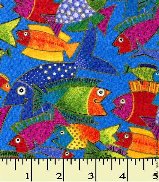 """Шитье ручной работы. Ярмарка Мастеров - ручная работа. Купить №557 американский хлопок """"Рыбы"""". Handmade. Американский хлопок"""