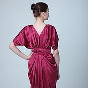 Одежда ручной работы. Ярмарка Мастеров - ручная работа Вечернее платье малиновое. Handmade.