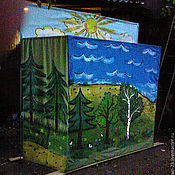 Puppet show handmade. Livemaster - original item Theatrical screen for mobile puppet theatre. Handmade.