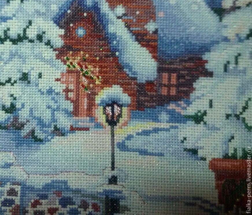 Вышивка риолис рождество