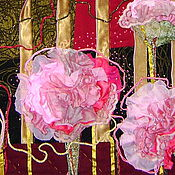 """Картины и панно ручной работы. Ярмарка Мастеров - ручная работа Панно """"Пионы"""". Handmade."""