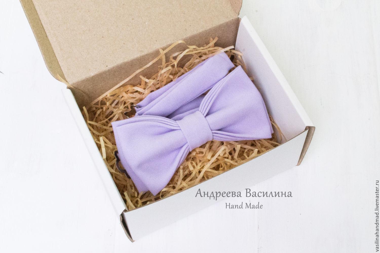 dfb2a63ab9c7 Ties & Bow Ties handmade. Livemaster - handmade. Buy Purple plain bow tie.