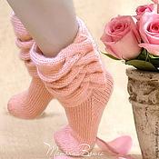 Аксессуары ручной работы. Ярмарка Мастеров - ручная работа Роза ветров. Носки вязаные, шерстяные, подарок ручной работы. Handmade.