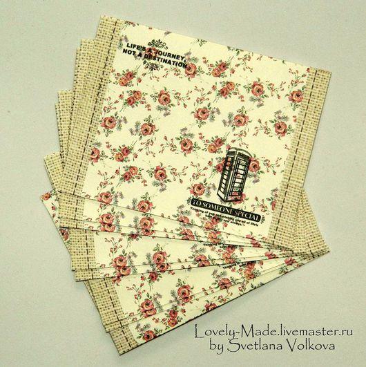 Упаковка ручной работы. Ярмарка Мастеров - ручная работа. Купить Конверты бумажные маленькие 10х7,5 см. Handmade.