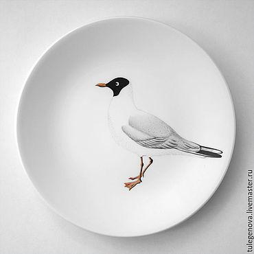 Посуда ручной работы. Ярмарка Мастеров - ручная работа Тарелки с птицами. Handmade.