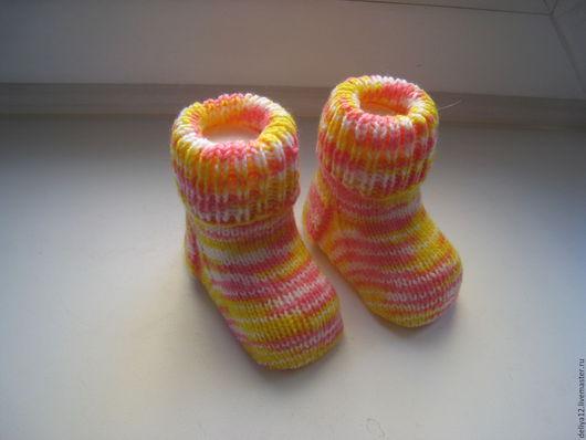 Носки, гольфы, гетры ручной работы. Ярмарка Мастеров - ручная работа. Купить Детские носочки. Handmade. Комбинированный, Новый Год