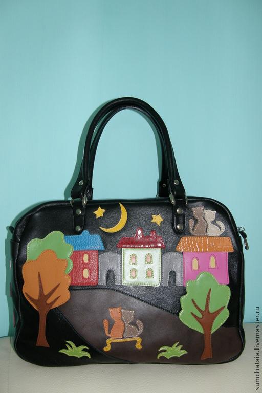 Bag leather 'Crimson night' - 2, Classic Bag, Yaroslavl,  Фото №1