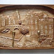 """Картины и панно ручной работы. Ярмарка Мастеров - ручная работа Резной городской пейзаж """"Голландия"""". Handmade."""