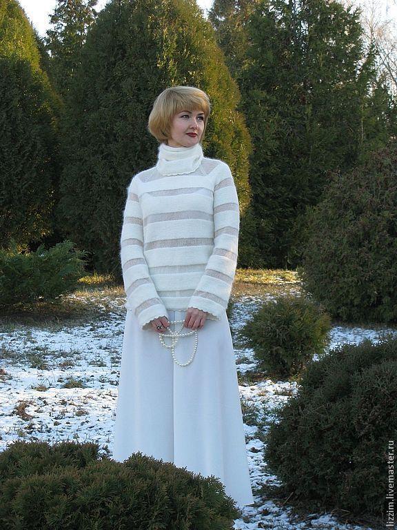 Вязаный теплый свитер женский доставка