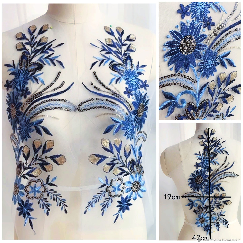 Beautiful lace embroidery, 2 PCs, Lace, St. Petersburg, Фото №1