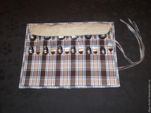 Кухня ручной работы. Ярмарка Мастеров - ручная работа. Купить Органайзер для хранения столовых приборов. Handmade. Хранение, кухня, хлопок