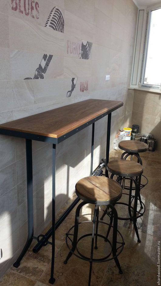 Мебель ручной работы. Ярмарка Мастеров - ручная работа. Купить Барный стол-стойка. Handmade. Черный, металл