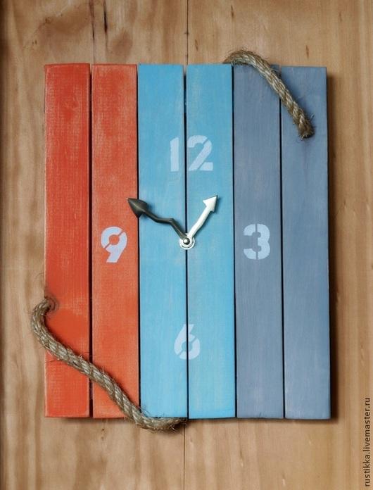 """Часы для дома ручной работы. Ярмарка Мастеров - ручная работа. Купить Настенные часы """"Мои морские горизонты"""". Handmade. Бирюзовый"""
