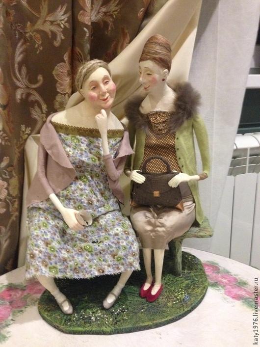 Коллекционные куклы ручной работы. Ярмарка Мастеров - ручная работа. Купить Сплетницы. Handmade. Салатовый, коллекционные игрушки
