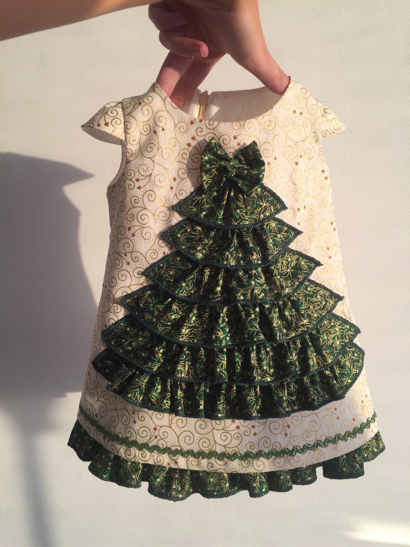 Елочка Платье новогоднее , детское нарядное на утренник Новый год
