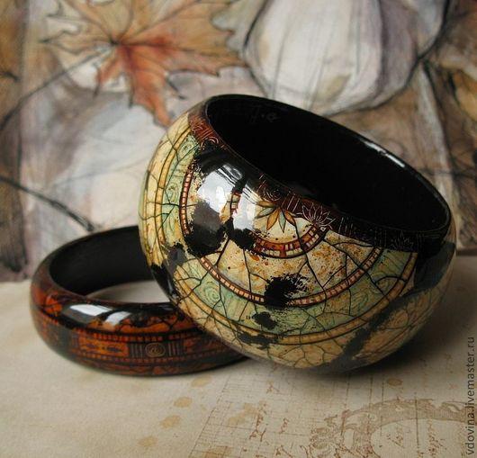 """Браслеты ручной работы. Ярмарка Мастеров - ручная работа. Купить браслеты """"Антик"""". Handmade. Браслеты, браслет с орнаментом, коричневый цвет"""