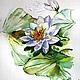 """Картины цветов ручной работы. Ярмарка Мастеров - ручная работа. Купить Акварель """"Нимфея"""". Handmade. Зеленый, водная лилия, пруд"""