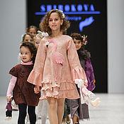 """Работы для детей, ручной работы. Ярмарка Мастеров - ручная работа Войлочное детское платье """"Фламинго"""". Handmade."""