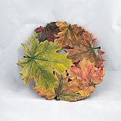 Посуда handmade. Livemaster - original item Autumn maple - plate d32cm. Handmade.