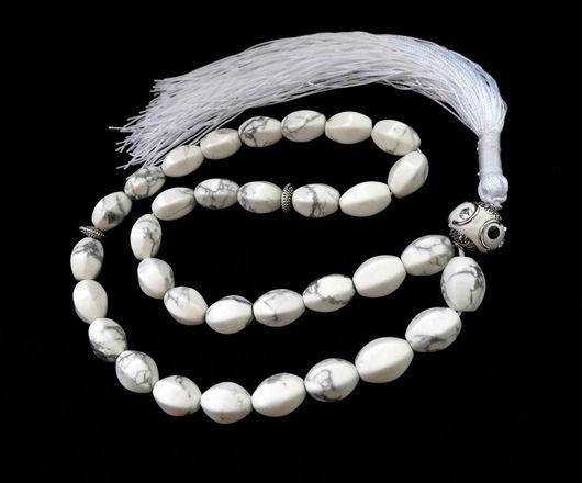 """Четки ручной работы. Ярмарка Мастеров - ручная работа. Купить Четки  """"Крыло Ангела""""  из белого кахолонга 33 камня. Handmade."""