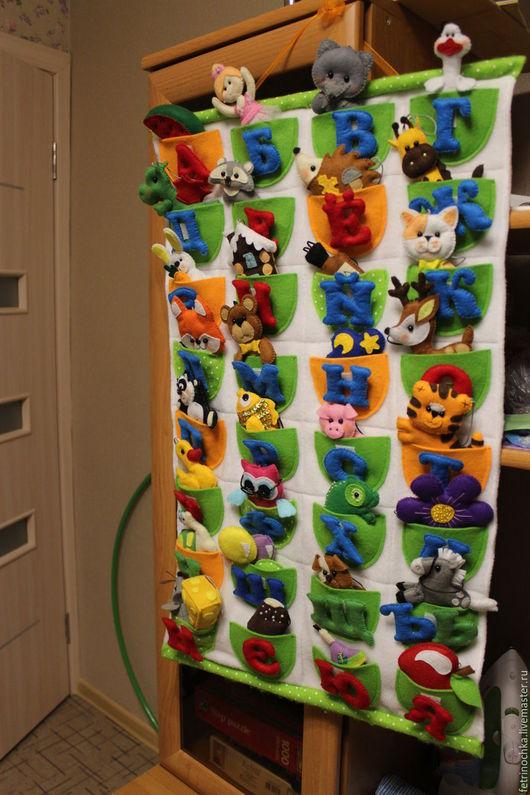 Развивающие игрушки ручной работы. Ярмарка Мастеров - ручная работа. Купить Азбука из фетра. Handmade. Фетровая игрушка, фетр для детей