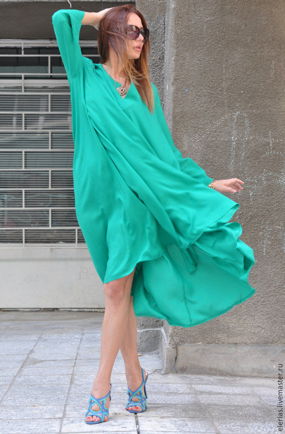 Dress, tunic Dress, Dress long sleeve, Asymmetrical dress, Summer dress, Clothing EUG