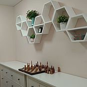 Для дома и интерьера handmade. Livemaster - original item Honeycomb shelves. Handmade.