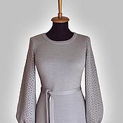 Одежда ручной работы. Ярмарка Мастеров - ручная работа Платье с ажурными рукавами. Handmade.