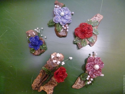 Магниты ручной работы. Ярмарка Мастеров - ручная работа. Купить магниты цветы. Handmade. Магниты на холодильник, комбинированный