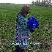 Одежда ручной работы. Ярмарка Мастеров - ручная работа Объемный кардиган Игра цвета. Handmade.