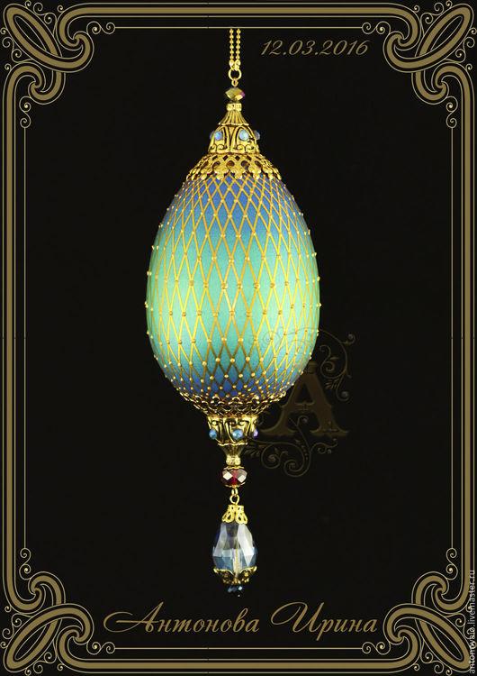 Яйцо-`Ажурная сетка`-2, для дома ручной работы.Антонова Ирина.Ярмарка Мастеров.
