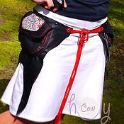 """Сумки и аксессуары ручной работы. Ярмарка Мастеров - ручная работа Кожаная сумка на пояс """"Black Hmong"""". Handmade."""