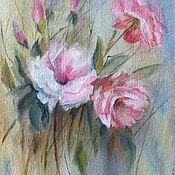 Картины и панно ручной работы. Ярмарка Мастеров - ручная работа Нежные розы. Handmade.