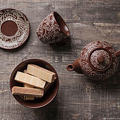 Посуда handmade. Livemaster - original item set for tea