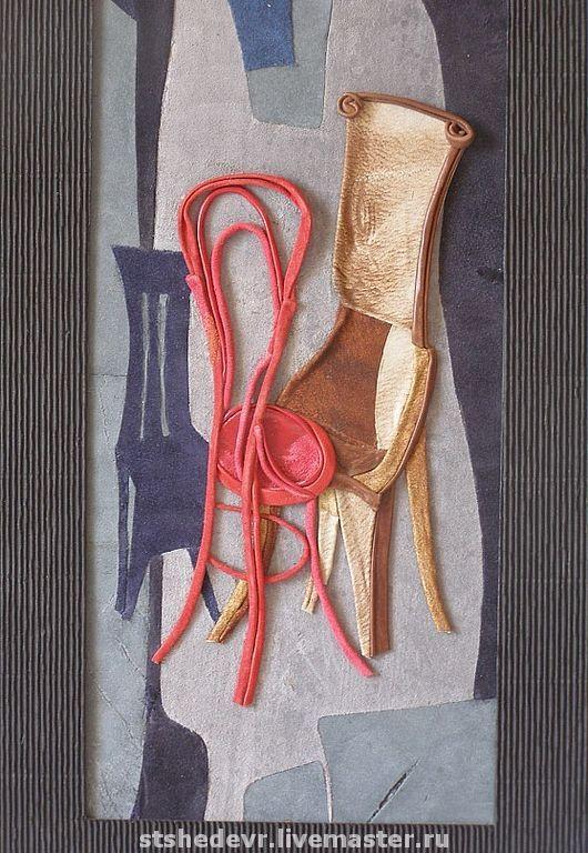 """Символизм ручной работы. Ярмарка Мастеров - ручная работа. Купить Картина  из  кожи """"Танго"""". Handmade. Оригинальный подарок, натуральная кожа"""
