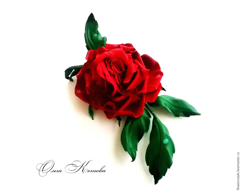 Роза из кожи своими руками 160