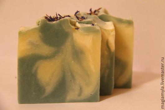 """Мыло ручной работы. Ярмарка Мастеров - ручная работа. Купить """"Райские рифы"""" натуральное мыло с нуля. Handmade. Голубой"""