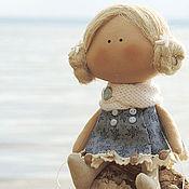 Куклы и игрушки ручной работы. Ярмарка Мастеров - ручная работа текстильная куколка-малышка. Handmade.