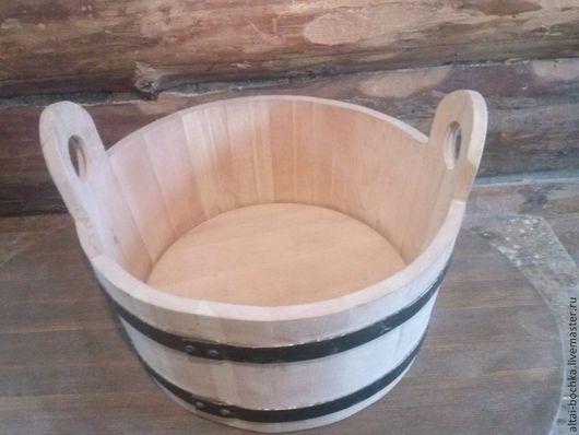 Банные принадлежности ручной работы. Ярмарка Мастеров - ручная работа. Купить ушат (таз)для бани.. Handmade. Бежевый, дерево, баня