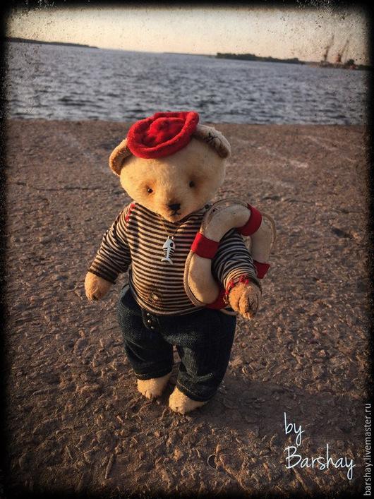 Мишка Тедди Моряк Сэм со спасательным кругом. Игрушки ручной работы от Евгении Баршай.